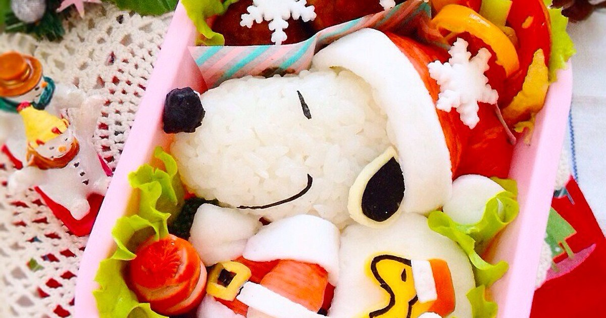 キャラ弁☆スヌーピーサンタのクリスマス