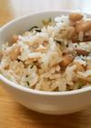 ツナと大豆と大根葉☆優しい味の混ぜご飯