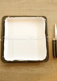 目から鱗*ロールケーキ 型紙の敷き方
