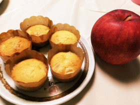 りんごの米粉マフィン♡