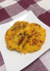 離乳食﹡ほぼ野菜かぼちゃと豆腐の鶏バーグ