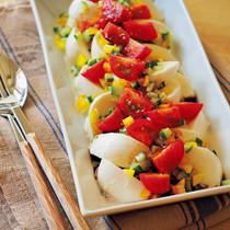 カラフル野菜のカプレーゼ