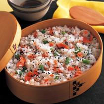 鮭といんげんの炊き込みご飯
