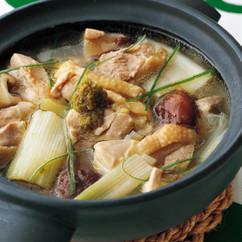 鶏肉とねぎの塩小鍋