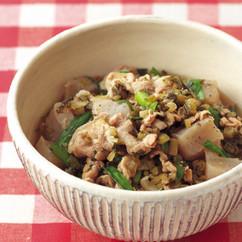 豚肉とこんにゃくの高菜煮