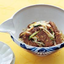 カルビと野菜のナムル風