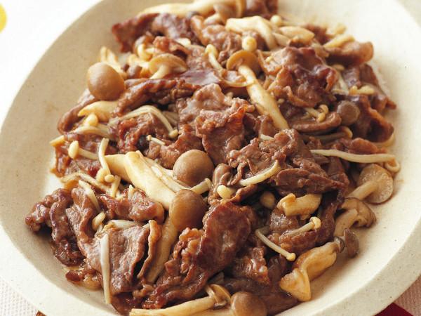 牛肉ときのこの中華炒め