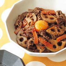 牛肉とれんこんのすき煮