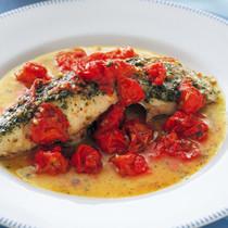 鯛のソテー プチトマトソース