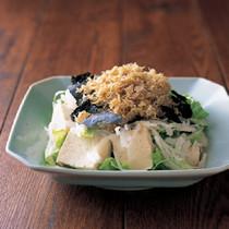 じゃこのり豆腐サラダ