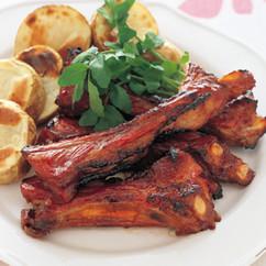 豚スペアリブのガーリック焼き