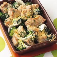 豚肉とブロッコリーのパセリパン粉焼き