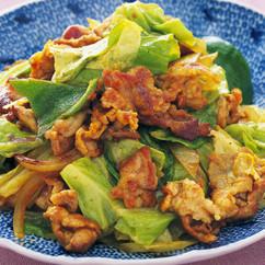 豚肉と野菜の和風カレー炒め