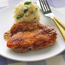 鶏肉のフライパングリル マスタードソース