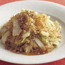 白菜とひき肉のうま煮