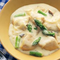 鶏肉とアスパラのクリームソース