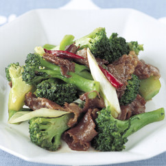 ブロッコリーと牛肉の中華炒め