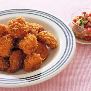 鮭フライ カラフル野菜ソース
