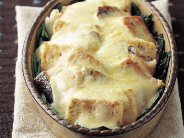 豆腐とたらのみそ風味グラタン