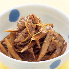 ごぼうと牛肉のしぐれ煮