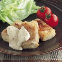 豆腐の豚肉巻きソテー