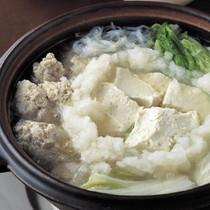 ふわふわだんごの豆腐鍋