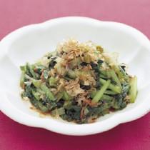 小松菜のおかかじょうゆ炒め