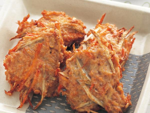 ひき肉と野菜の落とし揚げ