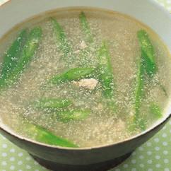 いんげんとたらこのスープ