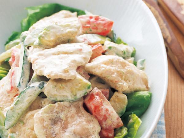 ゆで鶏とアボカドのおかずサラダ