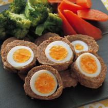 ゆで卵のミートローフ