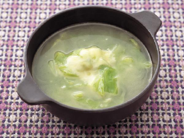 キャベツのチーズスープ