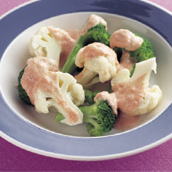 温野菜のサラダ 明太ソース