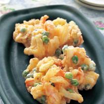 えびとグリーンピースの卵揚げ