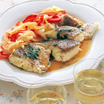 白身魚のバターソース