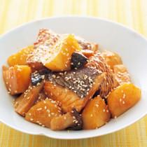 白身魚とじゃがいもの韓国風煮