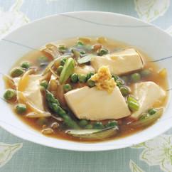 豆腐とグリーンピースのとろみ煮
