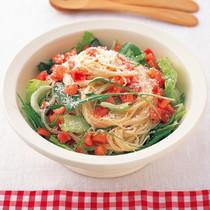 トマトたっぷりシーザーズサラダ麺