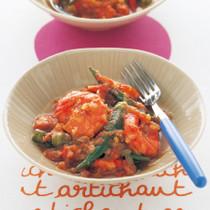 オクラとえびのスパイシートマト煮