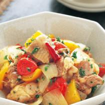 鶏肉とパプリカのさっぱり煮