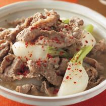牛肉とかぶの韓国風煮