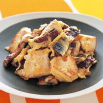 うなぎと豆腐のチャンプルー