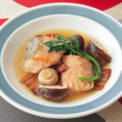 鮭ときのこのスープ仕立て