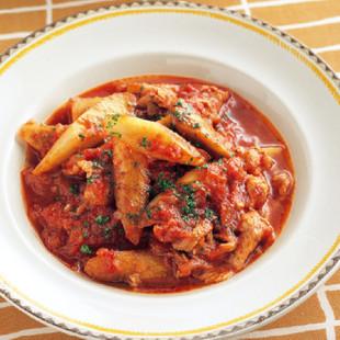 ごぼうと豚肉のトマト煮