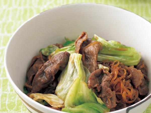 キャベツと牛肉のすき煮