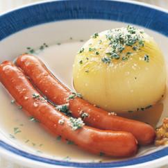 玉ねぎとソーセージのスープ煮