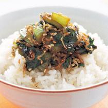 青梗菜とじゃこの炒め煮