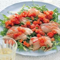 鯛のカルパッチョ トマトポン酢ソース