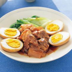 ゆで卵と豚肉の中華煮