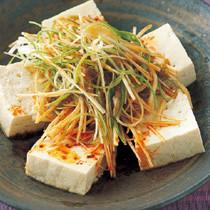 豆腐とねぎのサラダ